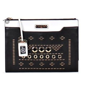 "Nicole Lee "" Alicia"" Studded Oversized Clutch"